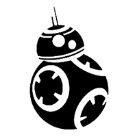 Star Wars BB8 Die Cut Vinyl Decal PV1891