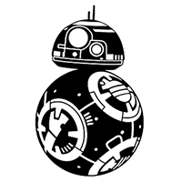 Star Wars BB8 Die Cut Vinyl Decal PV2166