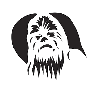 Star Wars Chewbacca Die Cut Vinyl Decal PV1003