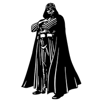 Star Wars Darth Vader Die Cut Vinyl Decal PV2358