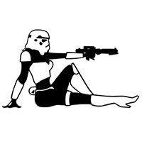 Star Wars Female Stormtrooper Die Cut Vinyl Decal PV2342