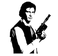 Star Wars Han Solo Die Cut Vinyl Decal PV2347