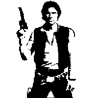 Star Wars Han Solo Die Cut Vinyl Decal PV997