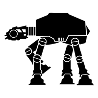 Star Wars Imperial Walker Die Cut Vinyl Decal pv1830