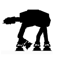 Star Wars Imperial Walker Die Cut Vinyl Decal PV406