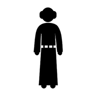 Star Wars Leia Die Cut Vinyl Decal PV370