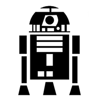 Star Wars R2D2 Die Cut Vinyl Decal PV373