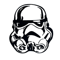 Star Wars Storm Trooper Die Cut Vinyl Decal PV407
