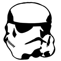 Star Wars Storm Tropper Die Cut Vinyl Decal PV372