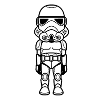 Star Wars Stormtrooper Die Cut Vinyl Decal PV2431