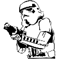 Star Wars Stormtrooper Die Cut Vinyl Decal PV710