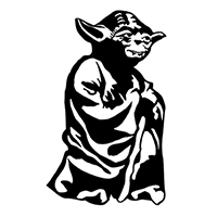 Star Wars Yoda Die Cut Vinyl Decal PV2406