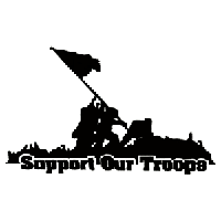 Support Our Troops Die Cut Vinyl Decal PV1033