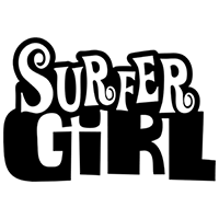 Surfer Girl Die Cut Vinyl Decal PV2138