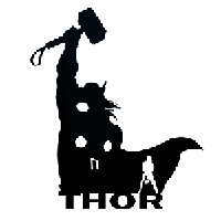Thor Die Cut Vinyl Decal PV680