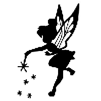Tinker Bell Die Cut Vinyl Decal PV1337