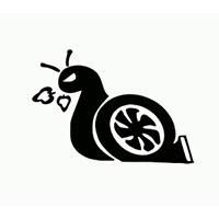 Turbo Snail Die Cut Vinyl Decal PV1943