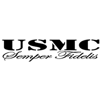 USMC Die Cut Vinyl Decal PV2343