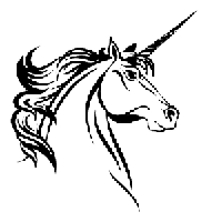 Unicorn Die Cut Vinyl Decal PV1134