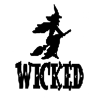 Wicked Witch Die Cut Vinyl Decal PV595