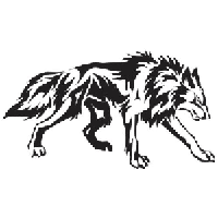 Wolf Die Cut Vinyl Decal PV984