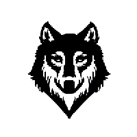 Wolf Die Cut Vinyl Decal PV998