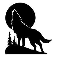 Wolf - Coyote Die Cut Vinyl Decal PV293