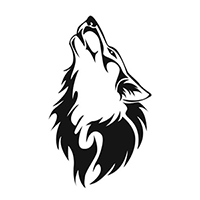 Wolf - Coyote Die Cut Vinyl Decal PV294
