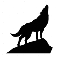 Wolf - Coyote Die Cut Vinyl Decal PV298