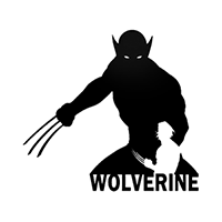 Wolverine Die Cut Vinyl Decal PV1421