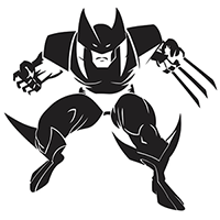 Wolverine Die Cut Vinyl Decal PV346