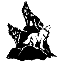 Wolves Die Cut Vinyl Decal PV2259