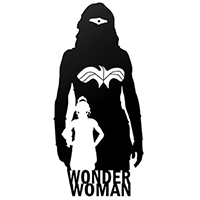 Wonder Woman Die Cut Vinyl Decal PV1424