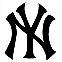 Yankees MLB Die Cut Vinyl Decal PV124