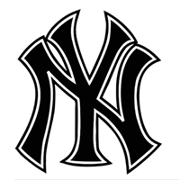 Yankees MLB Die Cut Vinyl Decal PV123
