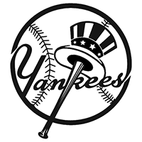 Yankees MLB Die Cut Vinyl Decal PV125