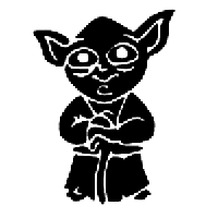 Yoda Die Cut Vinyl Decal PV1101