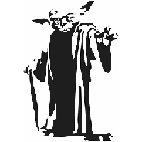 Yoda Die Cut Vinyl Decal PV1166