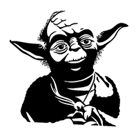 Yoda Die Cut Vinyl Decal PV2257