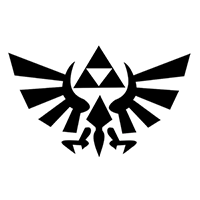 Zelda Tri Force Die Cut Vinyl Decal PV283
