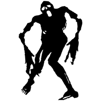 Zombie Die Cut Vinyl Decal PV1838