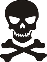 Skull n Crossbones Jolly Roger Car Truck Vinyl Decal Window Sticker PV111