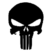 Punisher Die Cut Vinyl Decal PV170