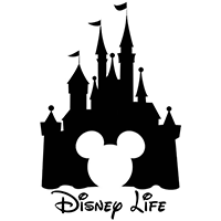 Disney Life Die Cut Vinyl Decal pv3070