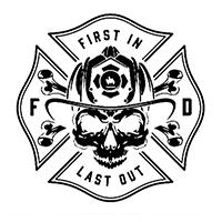 Fire Fighter Die Cut Vinyl Decal pv3039