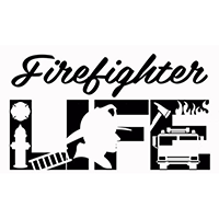 Fire Fighter Life Die Cut Vinyl Decal pv3036