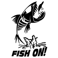 Fish On Die Cut Vinyl Decal pv3038