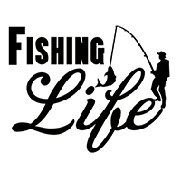 Fishing Life Die Cut Vinyl Decal pv3114