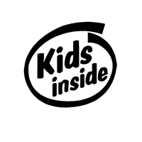 Kids Inside Die Cut Vinyl Decal pv3019
