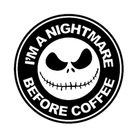 Nightmare Coffee Die Cut Vinyl Decal pv3047